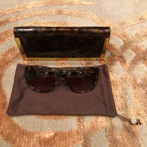 Tory Burch cat eye tortoise sunglasses